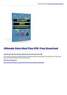 Ultimate Keto Meal Plan PDF Ebook Free Download
