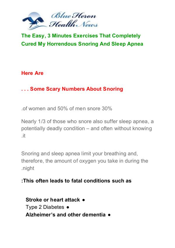 The Snoring AND Sleep Apnea Program PDF Free Download The Snoring and Sleep Apnea Program Free Download