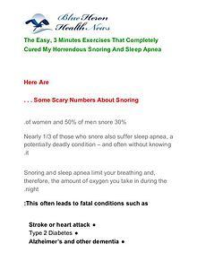 The Snoring AND Sleep Apnea Program PDF Free Download
