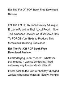 John Rowley:Eat The Fat Off PDF EBook Free Download