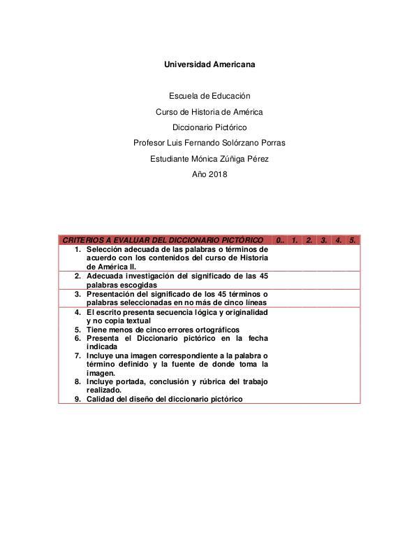 Diccionario Pictórico America II diccionario pictorico america II