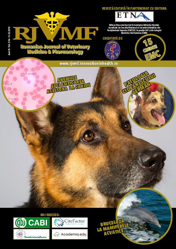 Romanian Journal of Veterinary Medicine & Pharmacology 13 (5) 2018 Vol. 3