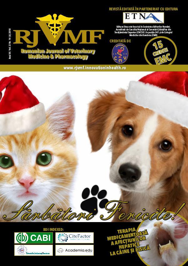 Romanian Journal of Veterinary Medicine & Pharmacology 14 (6) 2018 Vol 3
