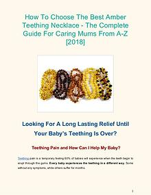 How To Choose The Best Amber Teething Necklace
