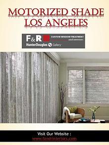 Motorized Shade Los Angeles | Call - 310-659-8183 | fandrinteriors.co