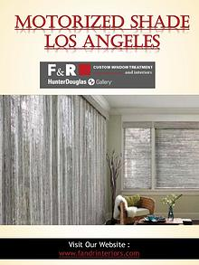 Motorized Shade Los Angeles | Call - 310-659-8183 | fandrinteriors.co