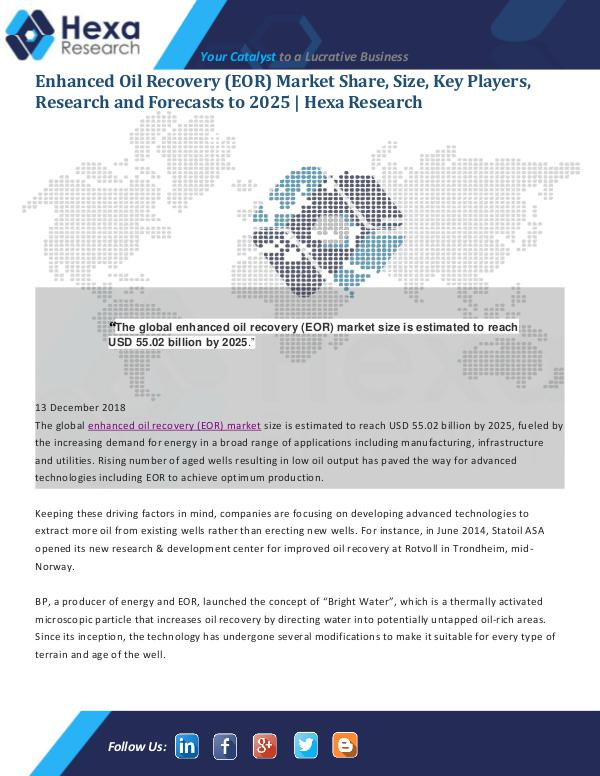 Enhanced Oil Recovery (EOR) Market