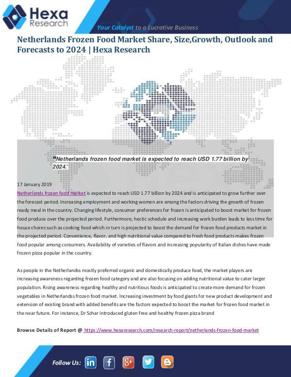 Market Analysis Report Netherlands Frozen Food Market
