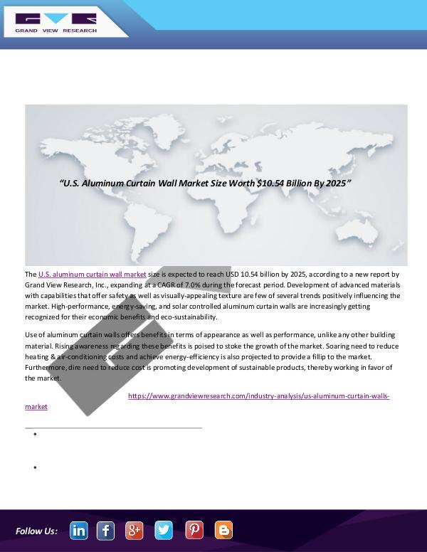 Technology Research Reports U.S. Aluminum Curtain Wall Market