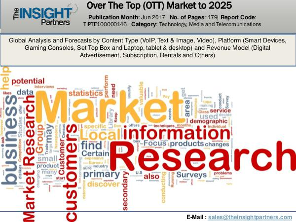Urology Surgical Market: Industry Research Report 2018-2025 World Over The Top (OTT) Industry Research Report