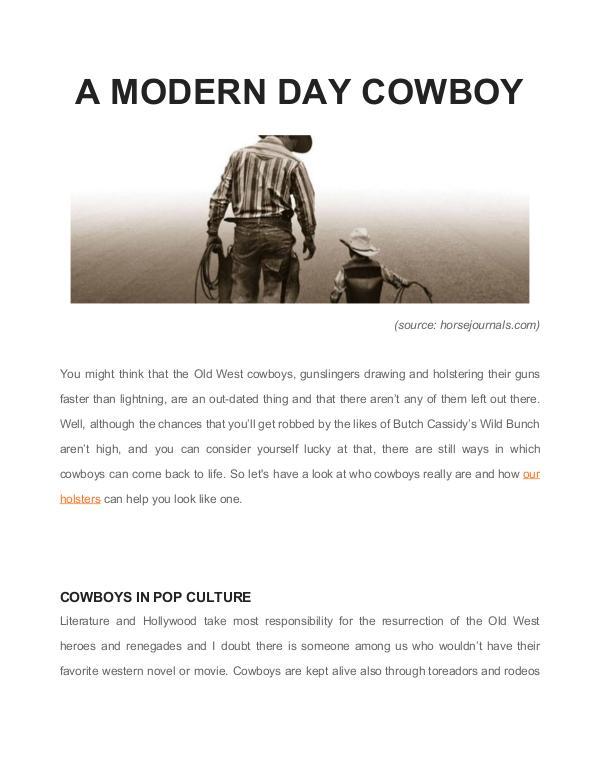 A Modern Day Cowboy Untitled document