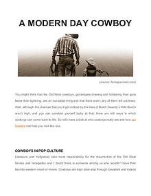 A Modern Day Cowboy