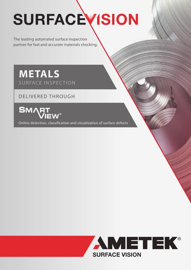 AMETEK Surface Vision Metals Brochure METALS SURFACE INSPECTION BROCHURE
