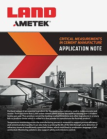 Application Note: Temperature Measurements in Cement Manufacture