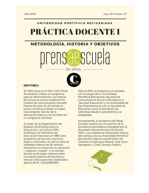 Práctica Docente: Prensa Escuela Diario de campo