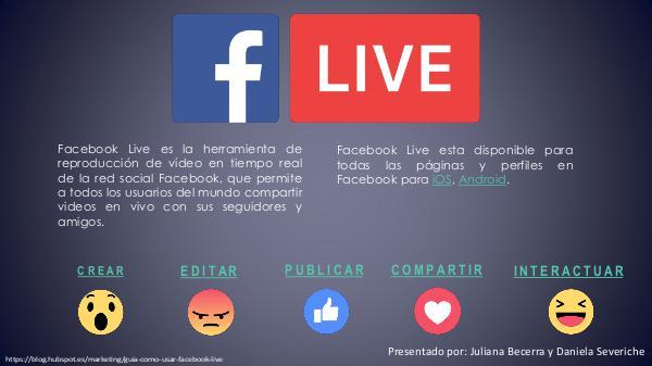 FACEBOOK LIVE FACEBOOK LIVE- Comunicación- 2