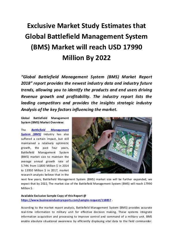 Market Research Reports Battlefield Management System (BMS) Market 2018 -