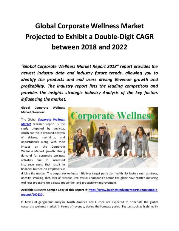 Market Research Reports Corporate Wellness Market 2018 - 2022