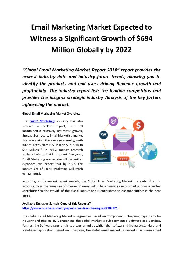 Market Research Reports Email Marketing Market 2018 - 2022