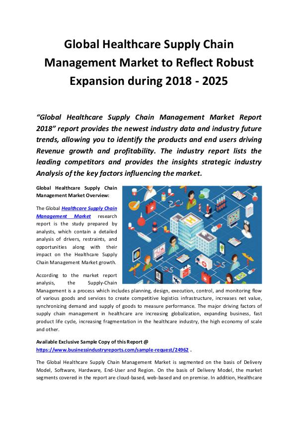 Healthcare Supply Chain Management Market 2018 - 2
