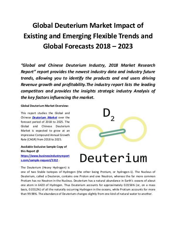 Market Research Reports Global Deuterium Market 2018 - 2023
