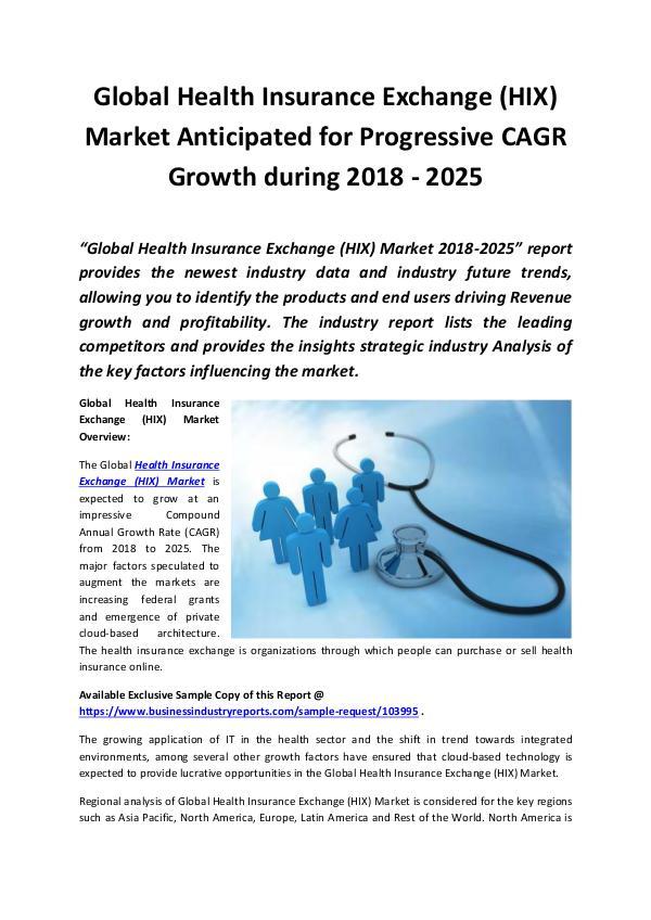 Global Health Insurance Exchange (HIX) Market 2018