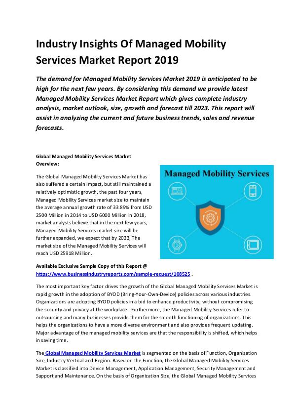 Global Managed Mobility Services Market Report 201