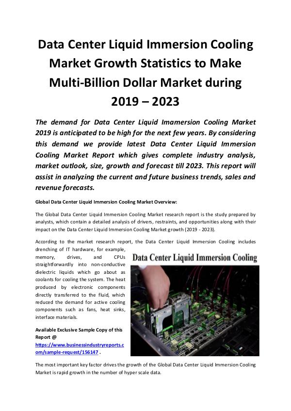 Global Data Center Liquid Immersion Cooling Market
