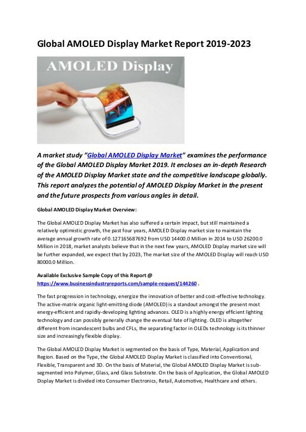 Global AMOLED Display Market Report 2019