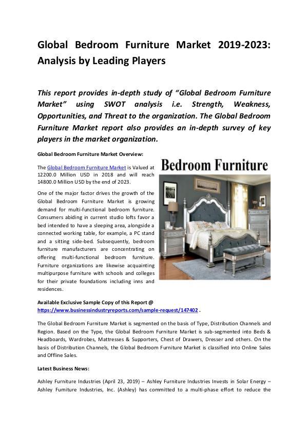 Global Bedroom Furniture Market Report 2019