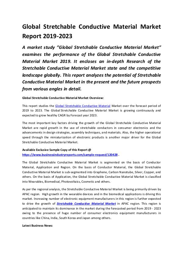 Global Stretchable Conductive Material Market Repo