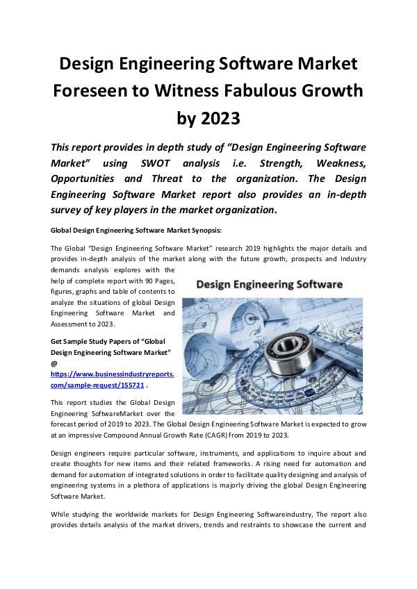 Global Design Engineering Software Market 2019