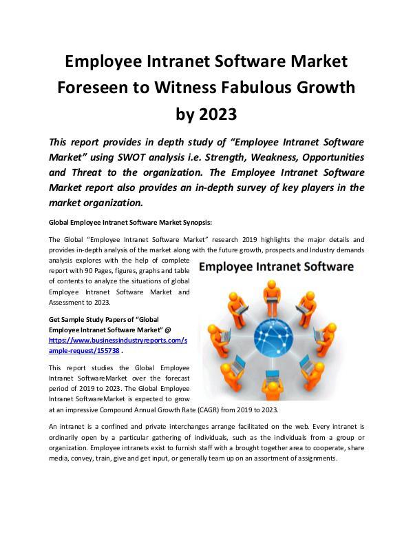 Global Employee Intranet Software Market 2019