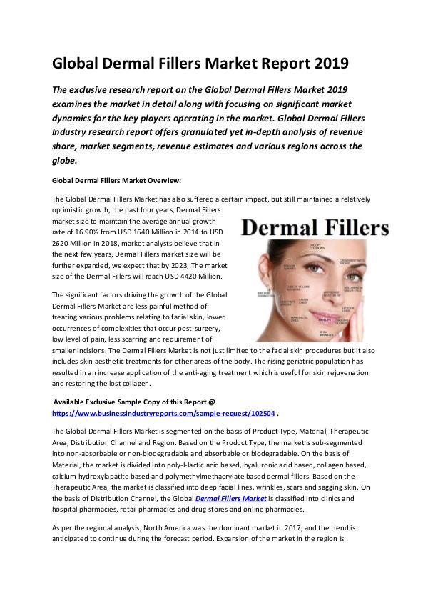 Global Dermal Fillers Market Report 2019-converted