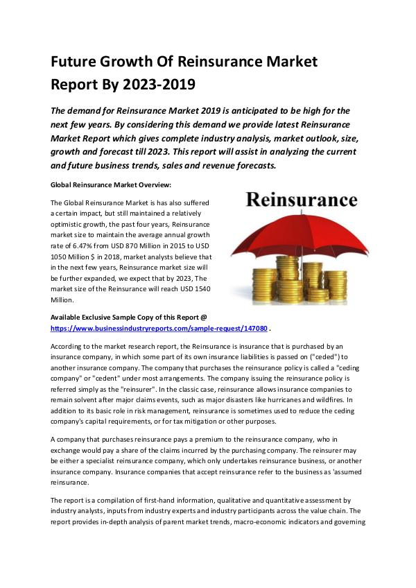 Market Research Reports Global Reinsurance Market Report 2019-converted