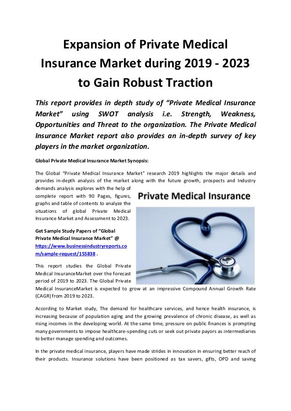 Global Expansion of Private Medical Insurance Mark