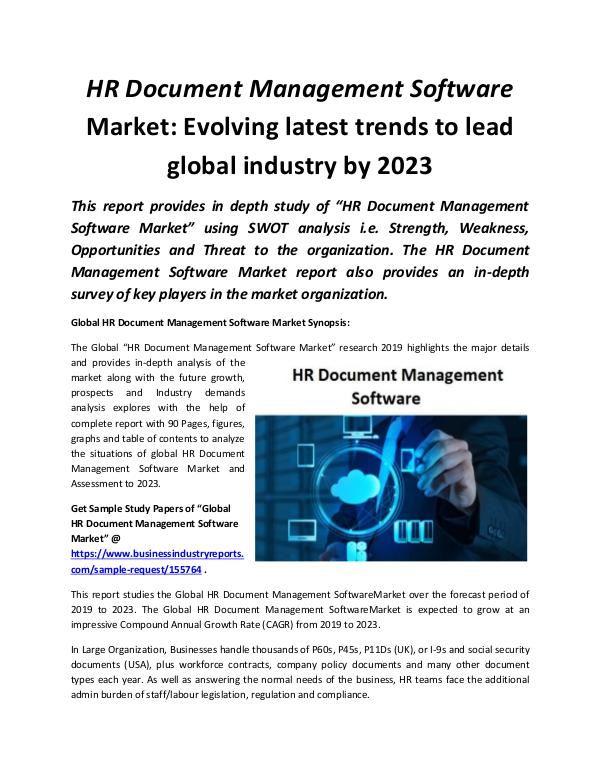 Global HR Document Management Software Market 2019