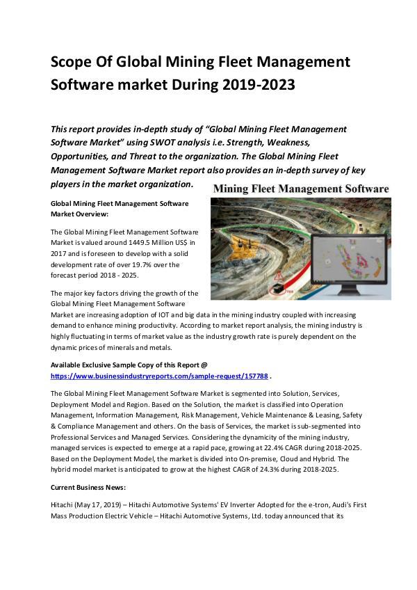 Global Mining fleet management software Market Siz