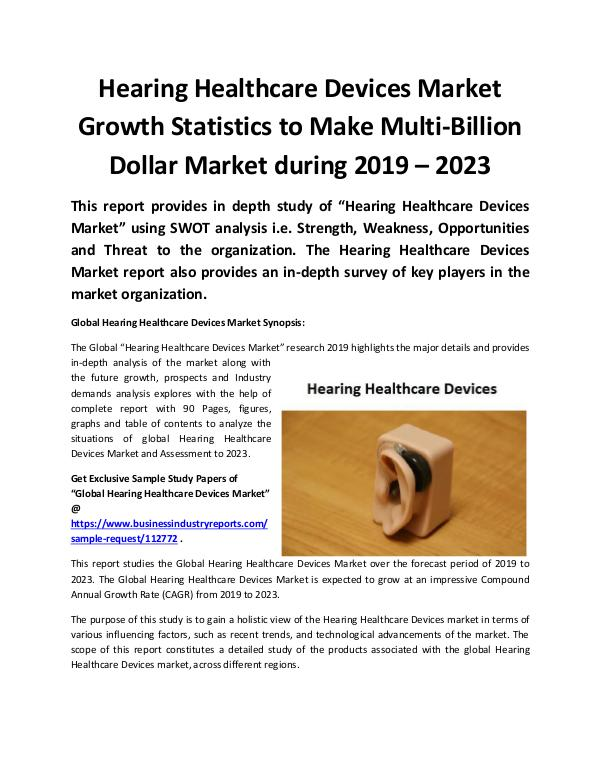 Global Hearing Healthcare Devices Market 2019