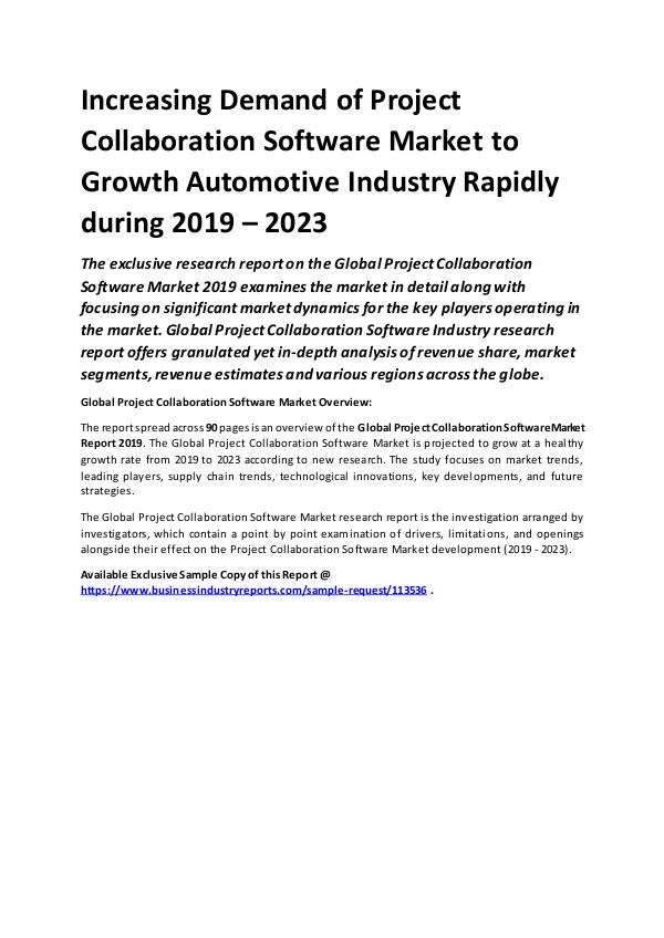 Global Project Collaboration Software Market Repor