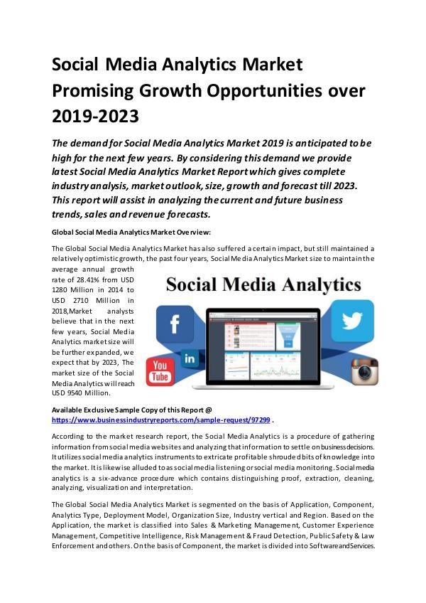 Global Social Media Analytics Market Report 2019