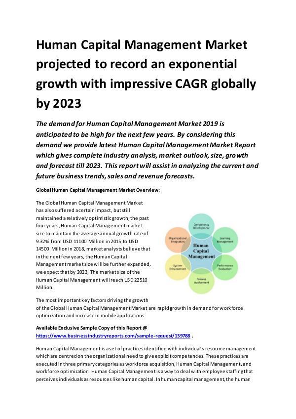 Global Human Capital Management Market Report 2019