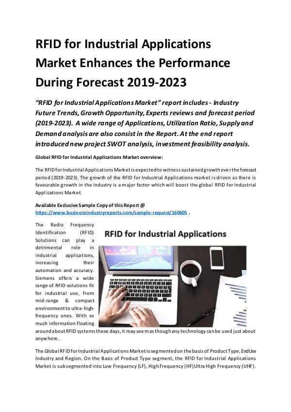Global RFID for Industrial Applications Market Rep
