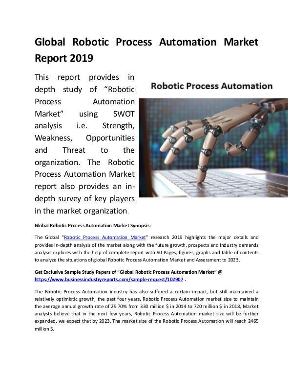 Global Robotic Process Automation Market Report 20