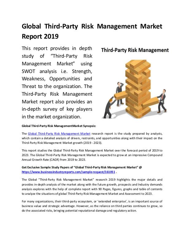 Global Third-Party Risk Management Market Report 2