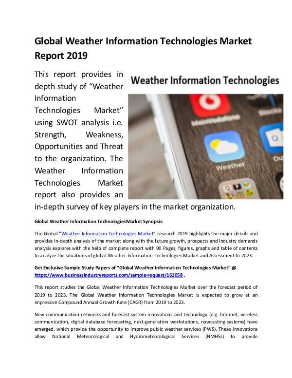 Global Weather Information Technologies Market Rep