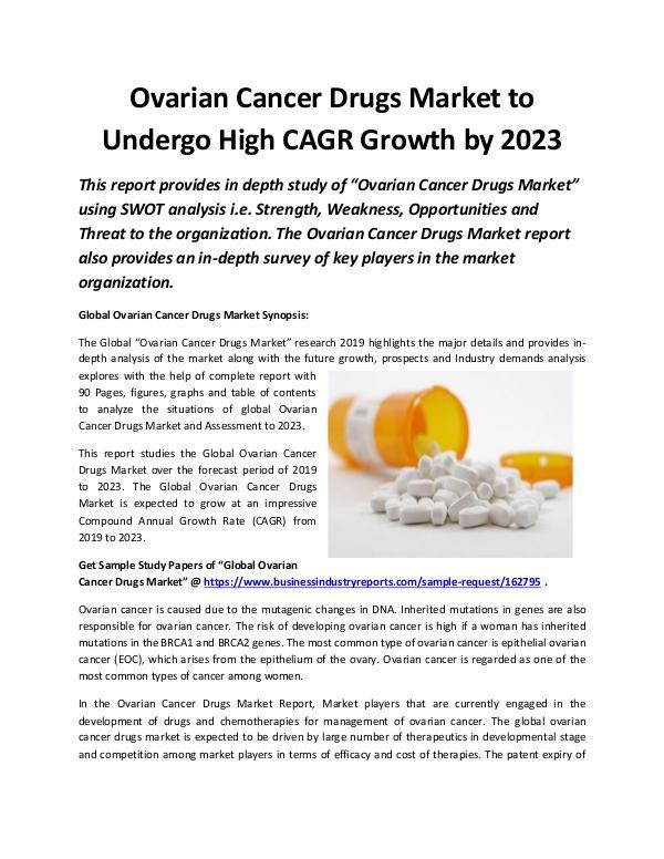 Global Ovarian Cancer Drugs Market 2019
