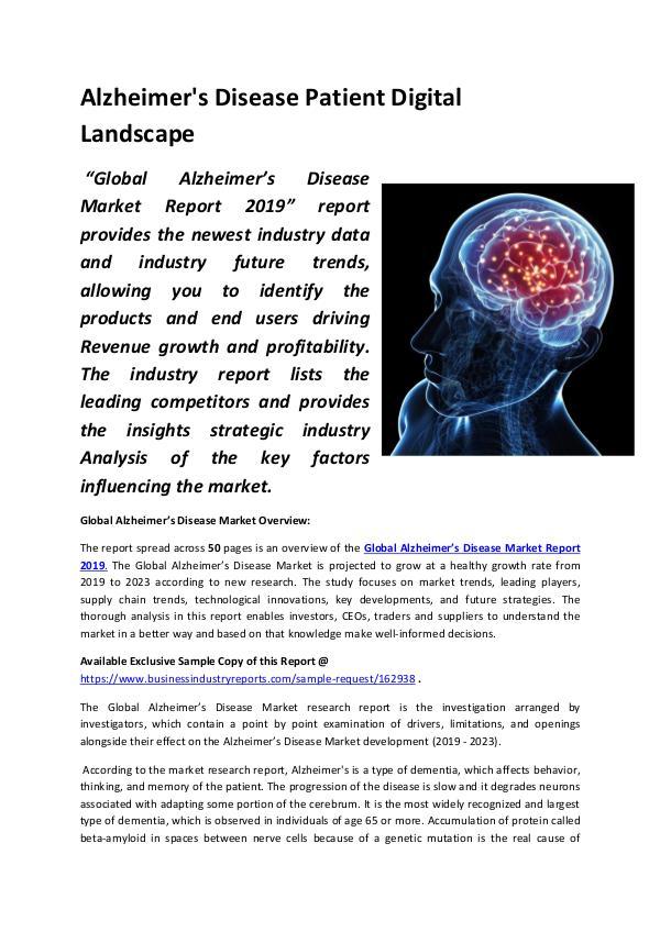 Alzheimer's Disease Patient Digital Landscape