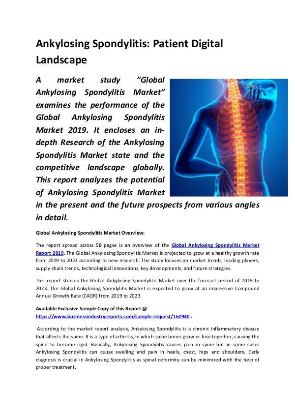 Ankylosing Spondylitis Patient Digital Landscape