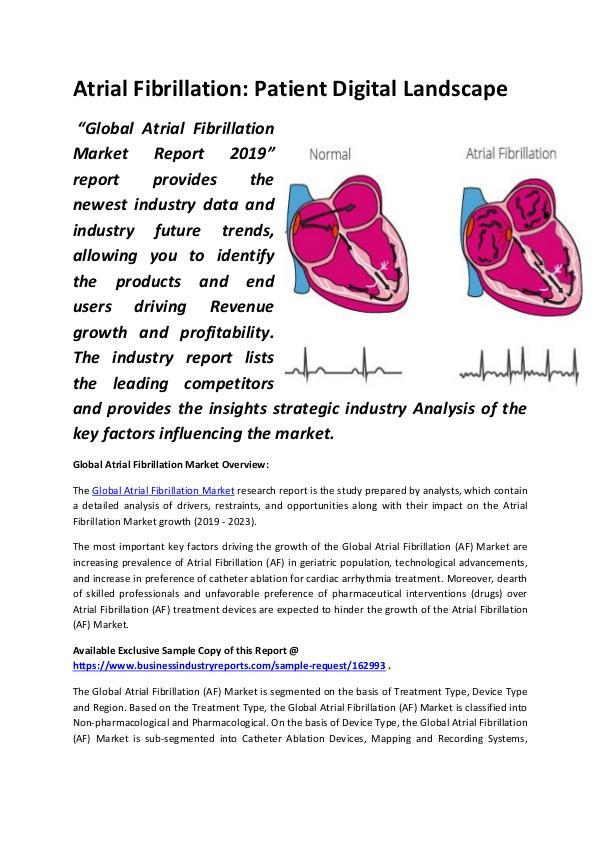 Market Research Reports Atrial Fibrillation Patient Digital Landscape